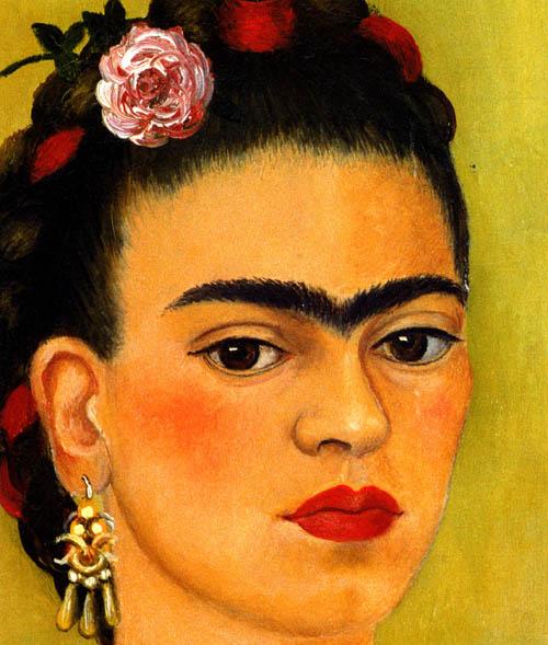 Картина девушки с одной бровью